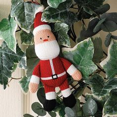 Knitted Father Christmas Decoration -