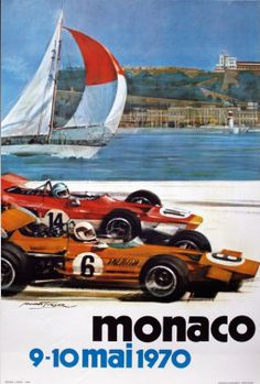 Monaco 1970 Gran Prix Vintage Poster Vintage Art Print Retro Style Vintage Car Auto Racing Advertising Free US Post Low EU post by VintagePosterPrints on Etsy Retro Poster, Poster S, Poster Vintage, Vintage Travel Posters, Poster Prints, Art Print, Vintage Art, Giclee Print, Etsy Vintage