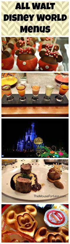 All the latest Walt Disney World Menus - Disney Dining information & money saving tips and hacks - Disney Dining Plans & even information on Free Dining.