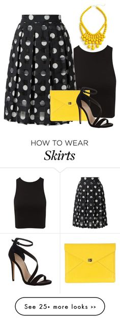 """polka dot skirt"" by vanessa-bohlmann on Polyvore"