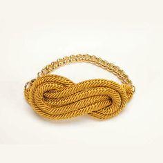 Rheanna Lingham's textile knot bracelet.