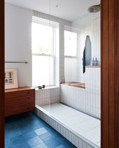 Indian Home Interior An Architect Breathes New Life Into a Brooklyn Row House.Indian Home Interior An Architect Breathes New Life Into a Brooklyn Row House Bad Inspiration, Bathroom Inspiration, Bathroom Ideas, Bathroom Goals, Bathroom Organization, Casa Magnolia, Heath Ceramics Tile, Heath Tile, Interior Minimalista