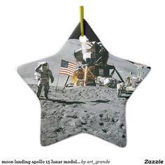 moon landing apollo 15 lunar module nasa 1971 ceramic ornament
