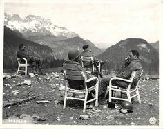 Soldados US en Berchtesgaden, 1945.