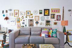 Para quem ama decoração, a inspiração pode vir de qualquer canto. Foi assim que Giovana Grigolin montou a casa colorida em que vive há dois anos.