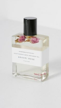 Alert: There's a Cool New Place to Discover Beauty Products Online | Byrdie. Yoke Brahmi Rose Bath Oil ($60)