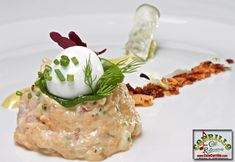 Crema salmon y aguacate