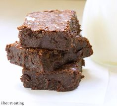 Rich and Fudgy Brownies - almost as easy as making a mix but tastes so much better!