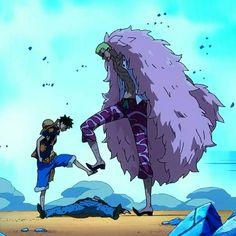 Luffy vs Doflamingo #onepiece #luffy #doflamingo #newworld #pirates #anime #art #illust