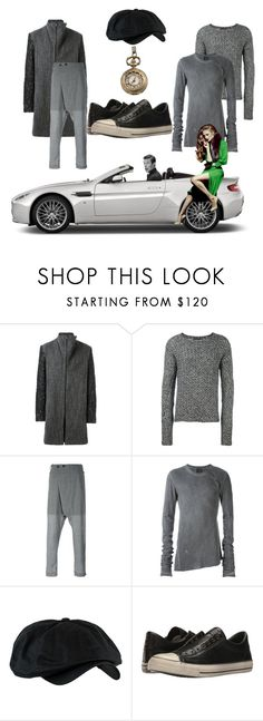 """Got a light?"" by ohitsjanedoe ❤ liked on Polyvore featuring Aston Martin, Lost & Found, Converse, men's fashion and menswear"