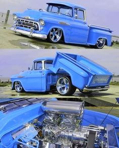 55 Chevy Truck, Chevy Pickups, Us Cars, Custom Trucks, Old Trucks, Badass, Vehicles, Car, Vehicle