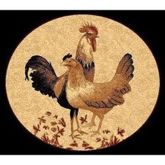 @Overstock - African Adventure Rooster Black Area Rug (5' x 7') - This lovely African adventure rooster black area rug is made from polypropylene for an amazing look and feel. The country style and animal print make this area rug the perfect addition to any home or office decor.    http://www.overstock.com/Home-Garden/African-Adventure-Rooster-Black-Area-Rug-5-x-7/6710846/product.html?CID=214117  $67.99