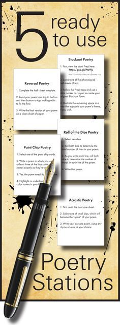Five Ready-To-Use Poetry Stations