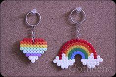 Gotheena Monsta Kraft !!: new perler beads keychains!!