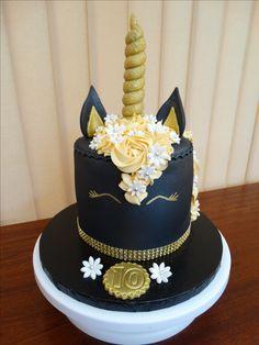 Black Unicorn Head Cake xMCx