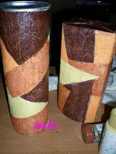 Las manualidades de Neli: PASO A PASO FALSO CUERO Wallpaper Pictures, Handicraft, Decoupage, Recycling, Mixed Media, Vase, Create, Biscuit, Home Decor