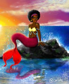 Sereia #BlackPower #Nigga #Mermaid (Minha autoria)
