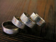 Mokume three colors of gold / wedding rings / 1997 Poland/Lublin