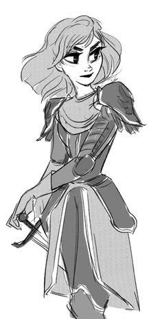 warrior lady sketch by snarkies