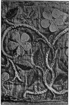 15th century piece, showing the padding used (uppermost flower).