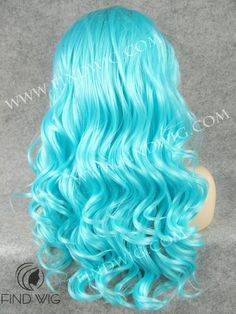 Drag Lace Front Wig Wavy Turquoise Long Hair. New Style Wig FW7-TF2513. Drag Wigs. Wigs for show. http://findwig.com/drag-lace-front-wig-wavy-turquoise-long-hair.html