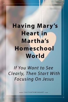 With a focus on Jesus, we can clearly see what our homeschooling priorities should be; without it we will stumble through our days.