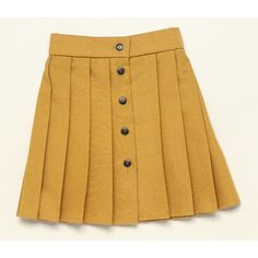 dkimages - discover - decorative arts - Skirts ❤ liked on Polyvore featuring skirts, bottoms, yellow, brown skirt, yellow skirt y embellished skirt