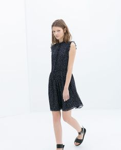 Image 1 of DRESS WITH BOW from Zara