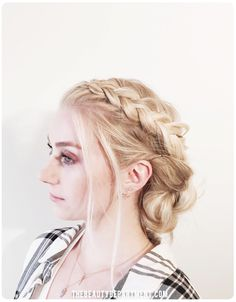Braid Chignon // The Beauty Department