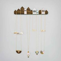 Houses Necklace Display