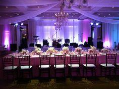 pretty in pink wedding reception