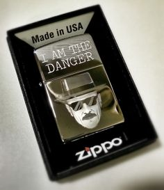 Breaking Bad Heisenberg I Am The Danger Classic Chrome Zippo Lighter