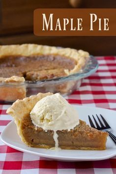 Maple Pie - a close cousin to butter tarts, sugar pie and even a southern pecan pie. This rich maple flavoured filling in a flakey buttery pastry is perfect for Canada Day or even for Thanksgiving or (Butter Tarts Canadian) Rock Recipes, Pie Recipes, Sweet Recipes, Cooking Recipes, Recipies, Köstliche Desserts, Delicious Desserts, Maple Syrup Recipes, Maple Sugar Pie Recipe