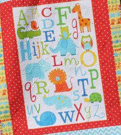 inspiration - ABC applique quilt