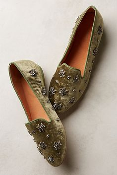 Antik Batik Lord Loafers from Anthropologie, Blinged out flats for your holiday festivities! Shoe Boots, Shoes Sandals, Ankle Boots, Dress Shoes, Fashion Shoes, Fashion Accessories, Hijab Fashion, Tokyo Street Fashion, Timberland Boots