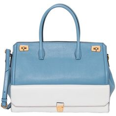 Miu Miu Two-tone Leather Tote Handbag ($1,000) ❤ liked on Polyvore featuring bags, handbags and tote bags