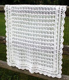 Heirloom Lace Baby Blanket