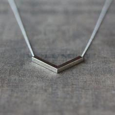 Silver Angle Necklace, Sterling Silver Chevron Necklace, V Shape Pendant, Modern Minimalistic, Everyday Necklace, Layering Jewelry https://www.etsy.com/ru/treasury/NDA4MDI2MjV8MjcyODUyMTA1MA/different-angles?index=0&atr_uid=