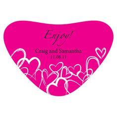 Contemporary Hearts Heart Container Sticker