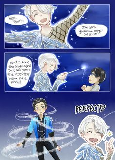 2/3 Cinderella AU where nobody's being abused, Cinders would rather do chores than go to the ball, love happens in a unexpected place and boy this is going to end tragically because oh Yuuri, you couldn't have just fallen for someone less immortal, could you?