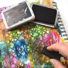 What are distress crayons from TIm Holtz? Video showing how to use them in an art journal and what pens will write on it by Carolyn Dube Distress Ink Techniques, Art Journal Techniques, Distress Markers, Distress Oxide Ink, Crazy Bird, Crayon Art, Art Journal Pages, Art Journaling, Art Journal Inspiration