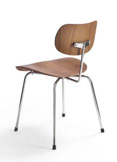 Egon Eiermann; #SE68 Chromed Metal and Molded Plywood, 1951.