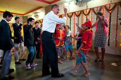 Nov. 7, 2010'In India, the President was finally persuaded to join the First Lady on the dance floor at Holy Name High School in Mumbai.'