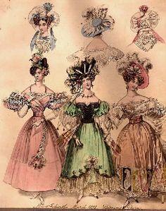 1837-1840 Victorian Fashion