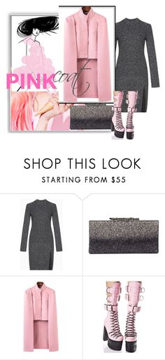 """""""pink coat"""" by sahrish-hossain ❤ liked on Polyvore featuring BCBGMAXAZRIA, Jimmy Choo and Current Mood"""