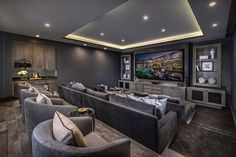 Home theater ideas luxury House theater concepts luxuri. Home theater ideas luxury House theater concepts luxurious – Watch Middl Salas Home Theater, Home Theatre, Home Theater Room Design, Movie Theater Rooms, Home Cinema Room, Home Theater Seating, Home Design, Theater Seats, Movie Theater Basement