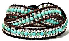 Win this chic turquoise wrap bracelet from designer Marie Bruns on http://ChicLuxuries RV: $85 ends 6/9