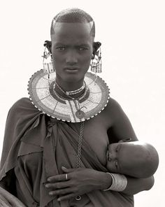 Herb Ritts : Maasai Woman and Child, Africa 1993