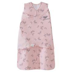 Halo SleepSack 100% Cotton Swaddle - Pink Butterfly Scribble - NB