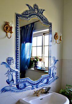 For everything Home Decor! Relaxing Bathroom, Boho Bathroom, Powder Room Design, Victorian Bathroom, Dream Bath, Italian Home, Classic Bathroom, Condo Living, Blue Rooms